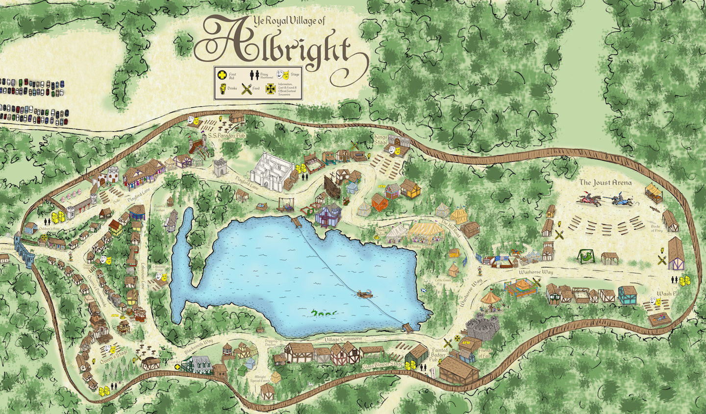 Map of the Faire